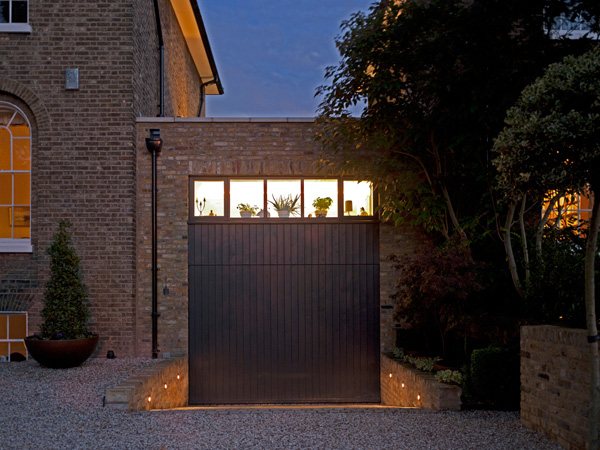 Shooters Hill, blackheath garage / kitchen elevation at night