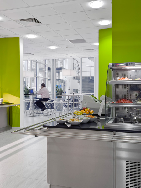 Carey Jones Reckitt Benckiser office canteen and restaurant