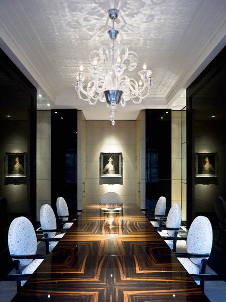 The Savoy, Client dinning room with art and furniture
