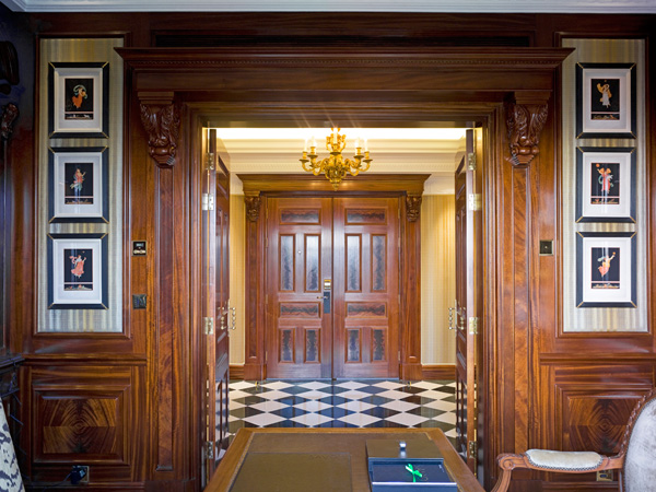 The Savoy, Rotal Suite Studyloking towards entrance hall