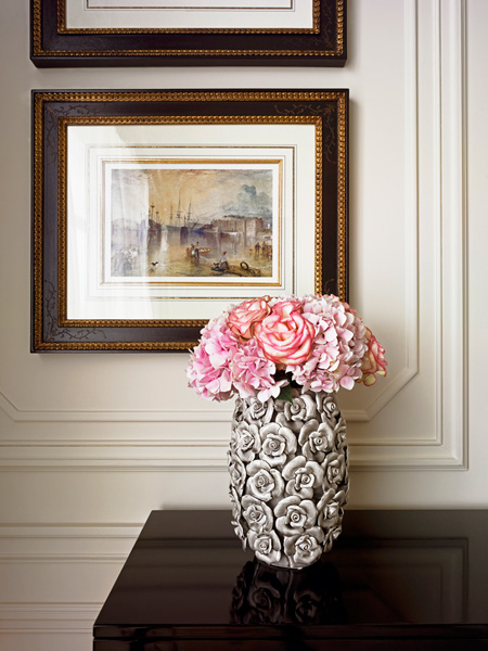 Savoy Hotel, Flower Still Life with artwork
