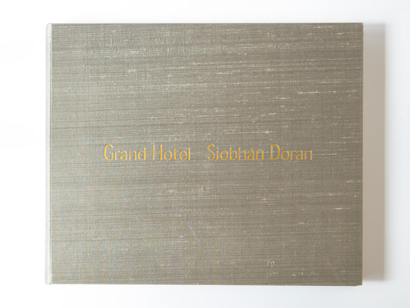 Grand Hotel handmade cover with Jim Thompson silk and debossed gold leaf title