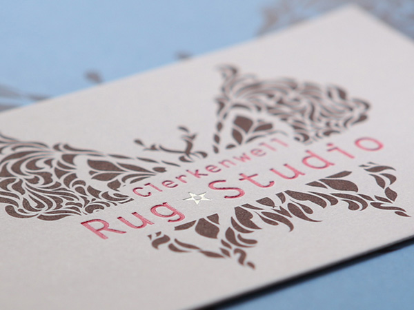 CRS business card with foil stamp