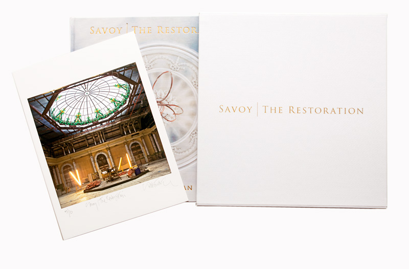 Savoy | The Restoration special edition book signed with box cover and print