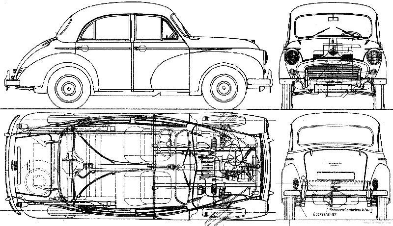 Morris Minor Car Illustration