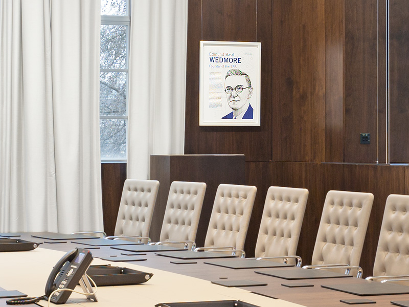 Artwork insitu - Wedmore Boardroom