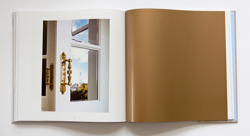 Savoy | The Restoration - double spread with gold chapter page