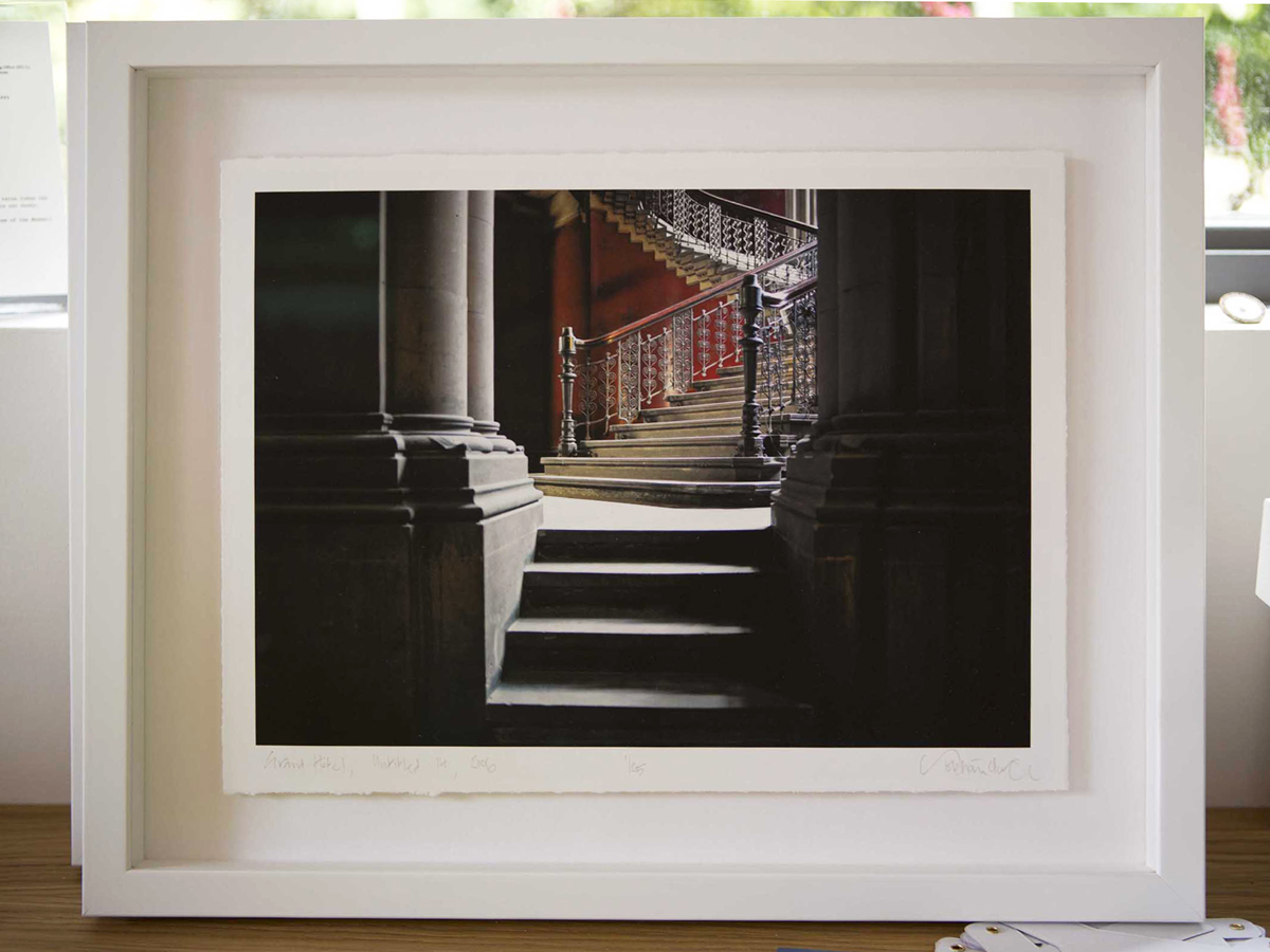 Grand hotel, St Pancras, Untitled 11, 2006 Framed floating with deckled edges